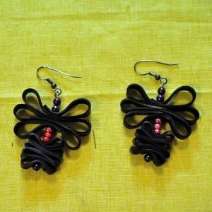 Boucles d'oreilles en chambre à air et perles