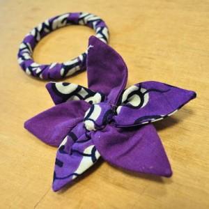 Bracelet et pince en tissu