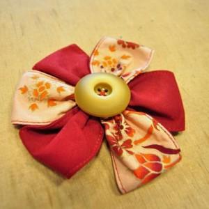 Pince en tissu et bouton