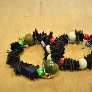 Bracelets en chambre à air et perles